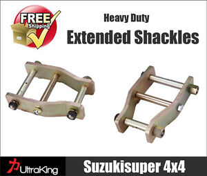 Toyota Hilux Extended Shackles Greasable IFS with Leaf Spring Rear