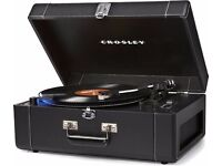 Crosley Deluxe Portable CR6250A USB Turntable with Audio Technica moving magnetic cartridge