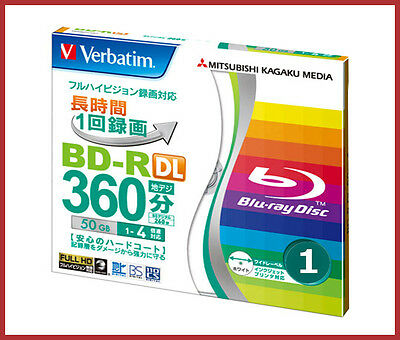 1 Verbatim 3D Blu ray Disc 50 GB BD-R DL DVD Dual Layer Blu ray 4X Printable