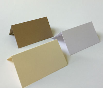 Place Cards For Wedding (50 Blank Tent Escort Cards, Tented Wedding Escort Cards, Stand Up Place)