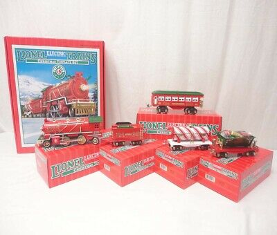 ✅LIONEL CHRISTMAS TINPLATE O GAUGE STEAM ENGINE TRAIN SET W/ TRAINSOUNDS 6-51012