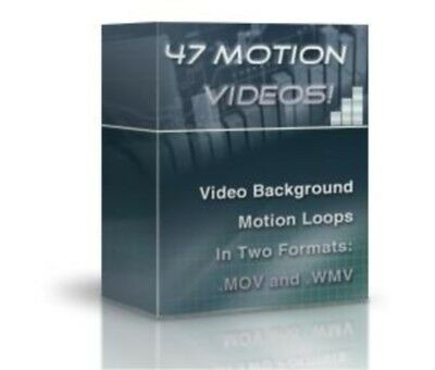 47 Professional Motion Video Background Loops On DVD + Royalty Free Music Loops