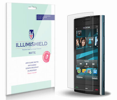 iLLumiShield Matte Screen+Back Protector w Anti-Glare 3x for Nokia X6 (2009) - 2009 Screen Protector