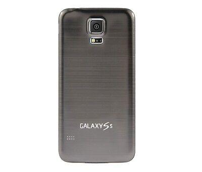 Hülle f Samsung Galaxy S5 i9600 G900 Aluminium Akku Deckel Case Cover Etui grau Deckel-case