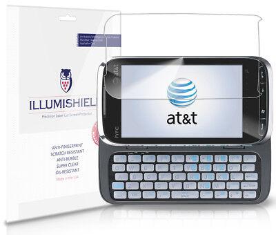iLLumiShield Phone Screen Protector w Anti-Bubble/Print 3x for HTC Tilt 2 (AT&T)