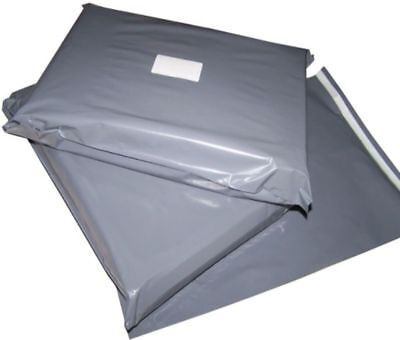 50 Grey Plastic Mailing Bags Size 14x21
