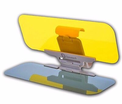 Zone Tech Anti Glare Sun - Visor Day Night Vision Shield Driving View Extender