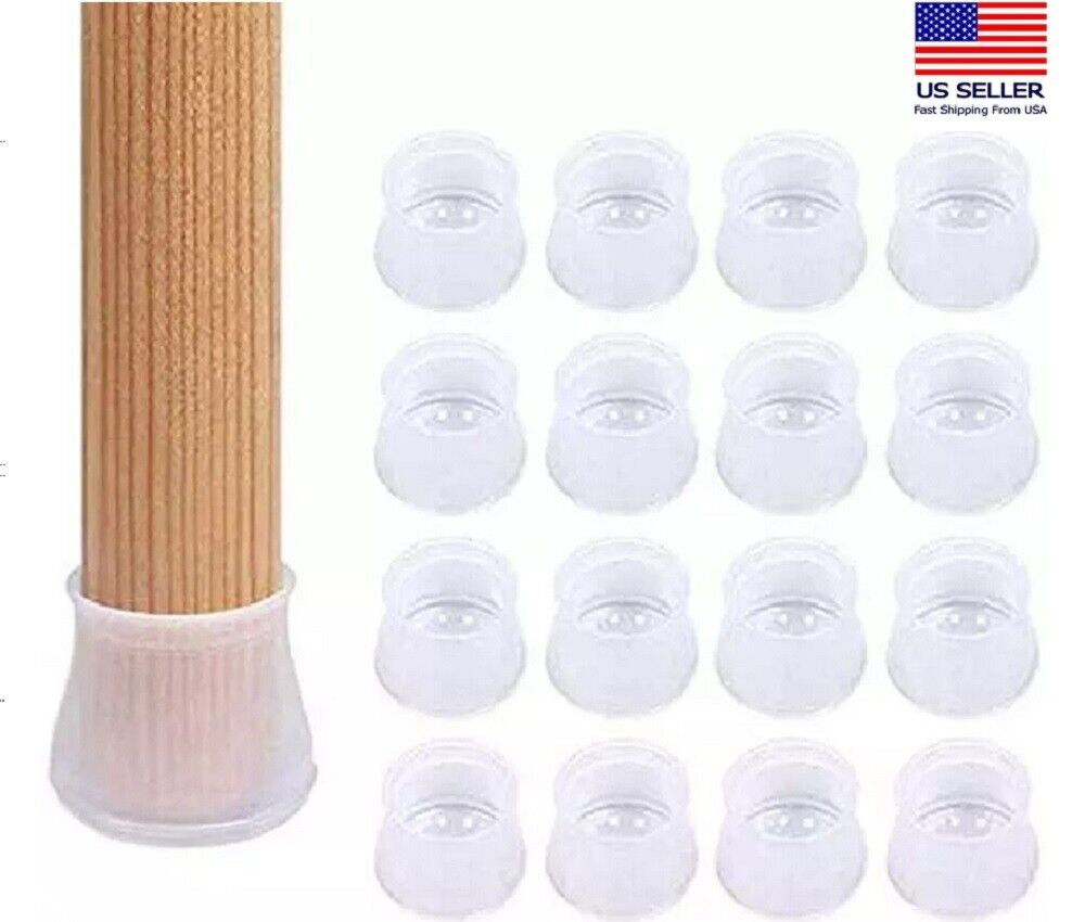 16Pcs Silicone Chair Furniture Leg Feet Protection Table Cap Cover Pad Protector Furniture