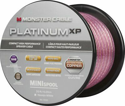 - Monster Platinum XP MKIII Clear Jacket Mini Spool 50 ft. Compact Speaker Cable