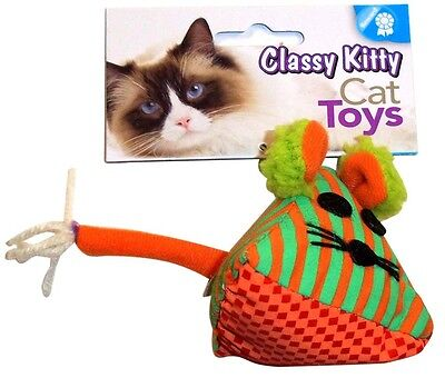 NORTH AMERICAN PET CLASSY KITTY TRIANGLE MOUSE CAT TOY FREE SHIP TO THE USA