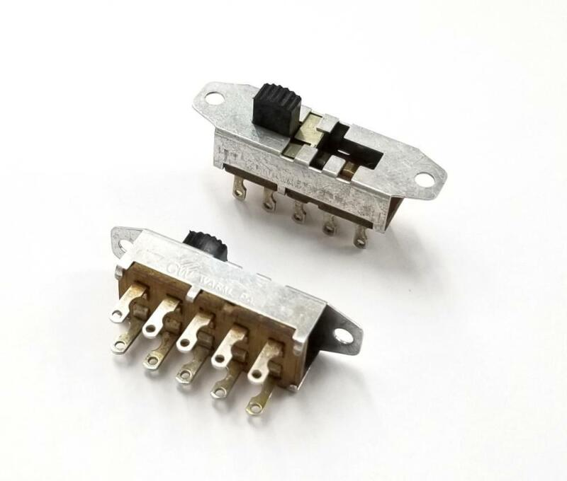 Lot of 2 CW Switch # G-141S-3011, DP4T ON-ON-ON-ON Slide Switches