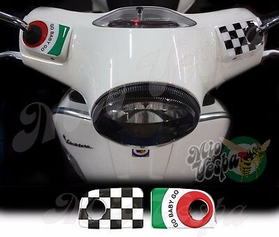 GO BABY GO GT Handlebar pump covers overlay 3D Decals stickers Vespa GTS 250 300
