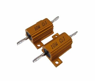 10w 8 Ohm Power Resistor Wirewound Aluminum Load - Pack Of 2