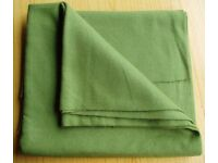 FABRIC PIECE - PLAIN OLIVE GREEN, WOOL BLEND, possibly. COLLECTION ONLY