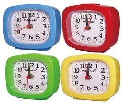 Travel Alarm Clock Analog 12 Hours Night illumination Assorted Colors Light
