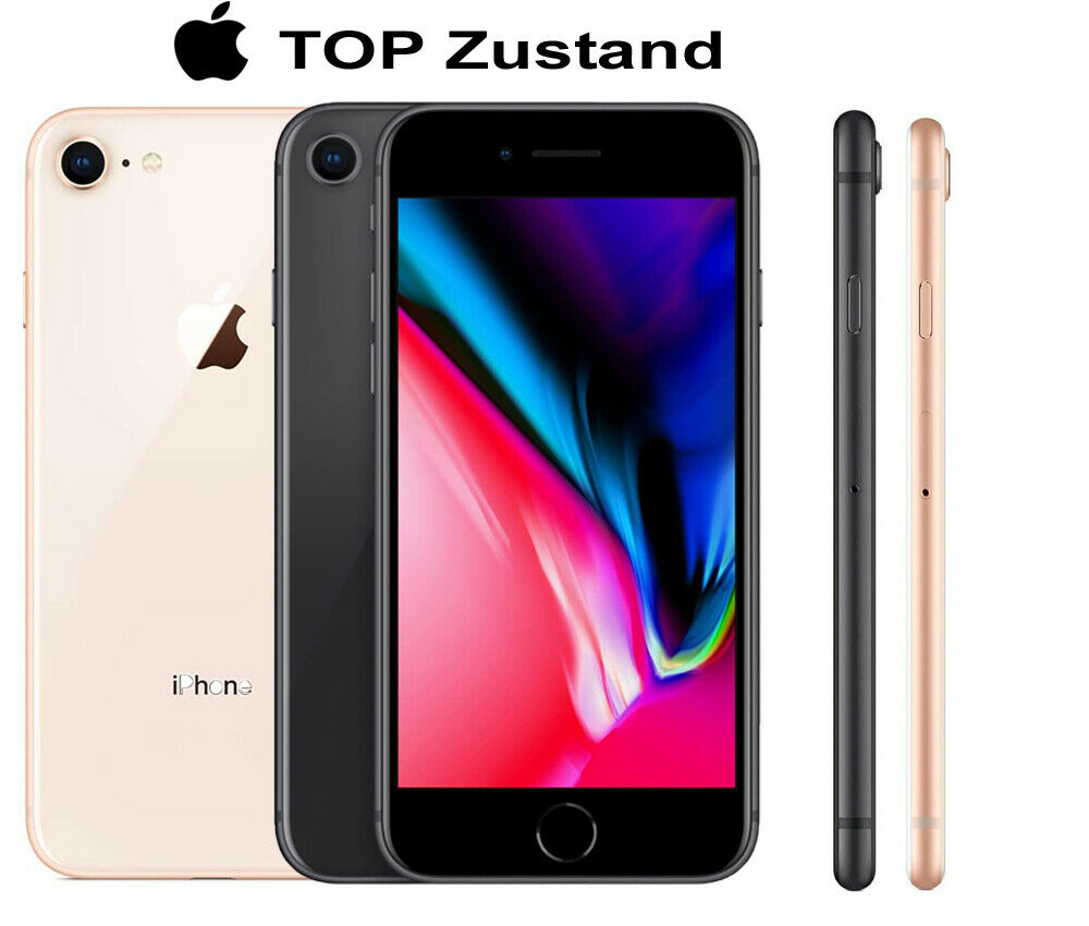 Apple iPhone 8 64GB Spacegrau Gold Smartphone Handy ohne Simlock TOP Zustand