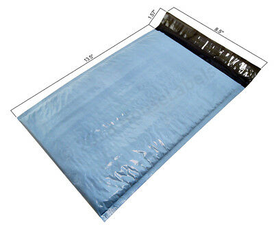 25 Bags 3 8.5x14.5 Poly Bubble Mailers Padded Shipping Envelopes Int. 8.5x13