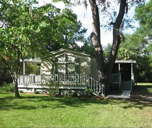 HOME FOR SALE $45,000 ON CANAL TO THE SUWANNEE RIVER IN FLORIDA