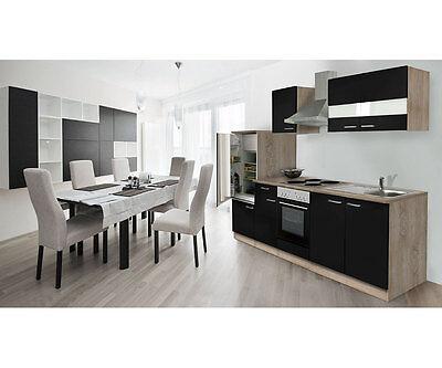 Respekta küchenleerblock küche leerblock küchenzeile 270 cm eiche sonoma schwarz