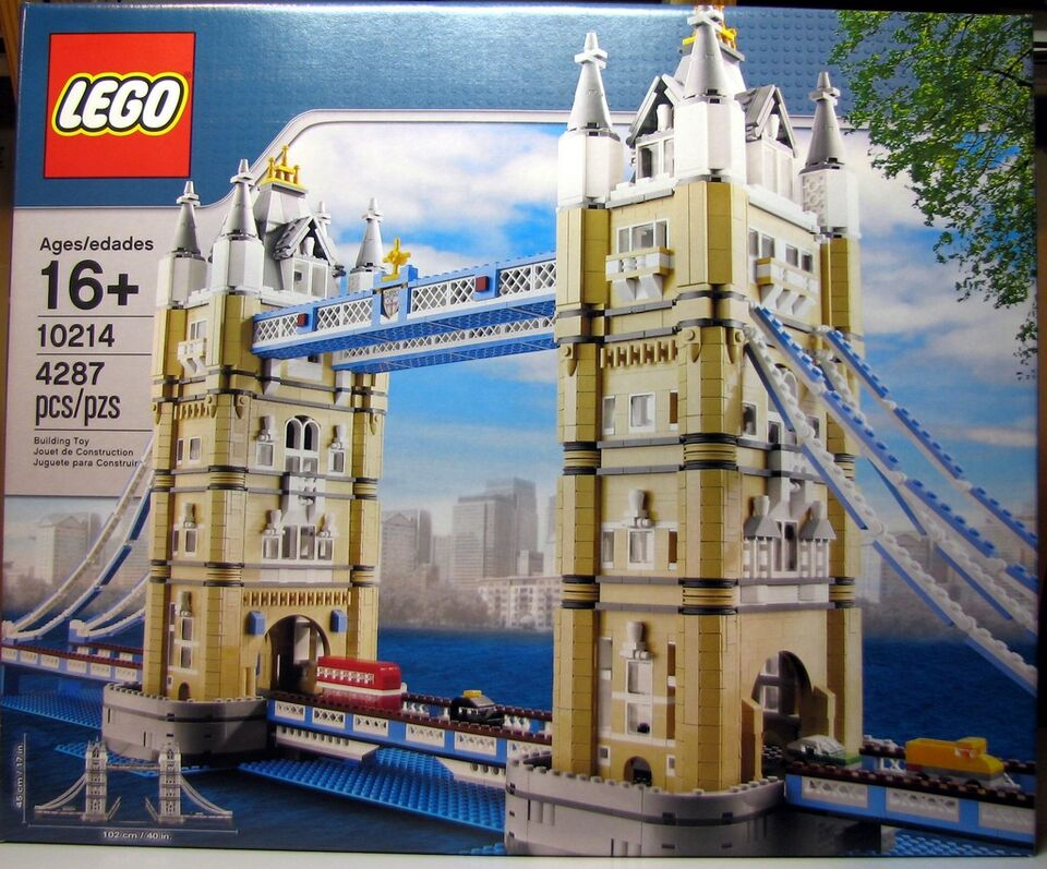 lego creator set 10214 tower bridge 4295 pieces misb. Black Bedroom Furniture Sets. Home Design Ideas