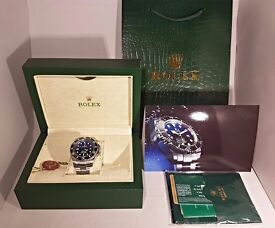 Rolex Deepsea Sea-Dweller James Cameron 2836 25j Sweeping Automatic - Inc Box, Bag, Papers, Delivery