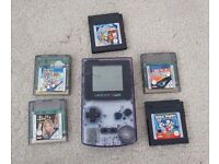 GameBoy Colour Limited Edition Clear Purple - Includes 5 Games - Excellent Condition