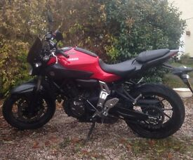 Yamaha MT-07 2016 ABS Barely 6 months old Excellent price