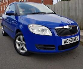 59 2010 SKODA FABIA HTP 1.4 PETROL BLUE CLEAN CHEAP CAR QUICK SALE