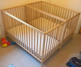 2 cot beds and accessories for sale