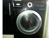 Whirlpool aqua steam washing machine black
