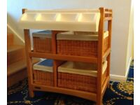 Mamas and Papas baby changing unit / table or storage with baskets and tray