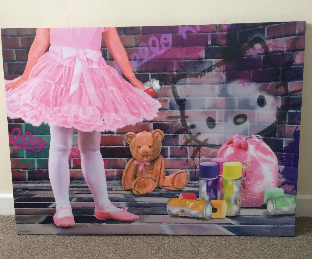 Framed canvas print (Hello Kitty)