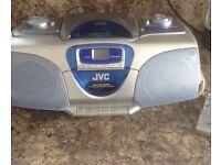 JVC portable CD/radio/tape only £5