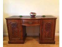 Ornate Antique Walnut Desk
