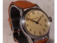 Jaeger Lecoultre Vintage Gents Watch, 1940's P478 Movment - New Tan Hirsch Strap