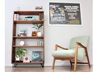 Vintage Retro G Plan Bookcase Shelving Hairpin Legs Teak Storage Mid Century.