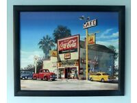 Pair of Framed USA Prints Measurements 22in/50cm x 18in/46cm