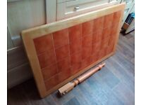 Table for Kitchen / Dinning / Hobbies. With Tiled top. 74cm wide x 120cm long