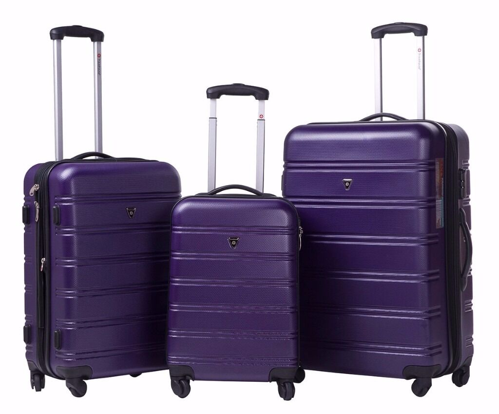 SALE!! ABS Hard shell Travel Trolley Suitcase 4 wheel Luggage set ...