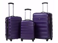 "SALE!! ABS Hard shell Travel Trolley Suitcase 4 wheel Luggage set Hand Luggage (28"",PURPLE)"