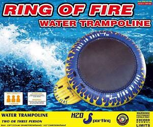 "SUMMER SALE!!! H2O Sporting Ring of Fire Water Trampoline 10'8"" - Also Have Water Ski Tube Towable Inflatables Snorkels"