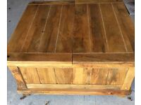 Solid Oak Storage Coffee Table