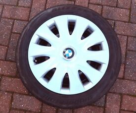 4 BMW steel wheels with winter tyres 195/55/R16