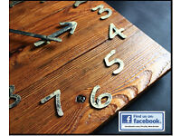 Upcycled Pallet Wood Wall Clock Old Style Art Industrial Rustic Shabby Chic