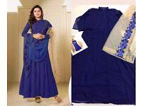 Indian Bollywood Ethnic Designer Anarkali Salwar Kameez Suit &Traditional UK-133]8