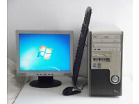 Mini PC (Office 2010, Win 7, Monitor, K/M, Business) All In One, MSI, Intel, Desktop PC, Computer