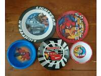 Children's plates and bowls