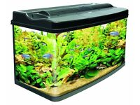 Interpet Modern Complete Curved Glass Aquarium With many free extra Accessories worth £330