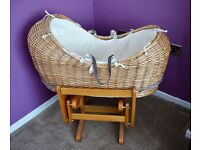 Snug Moses Basket / Crib with gliding stand *£155 in Mothercare*