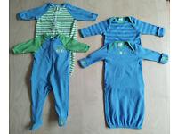 4 Piece Gerber's Matching Car Print Baby Clothes Bundle Set 3-6 Months